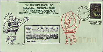 1991 Adelaide Crows Practice Match Football Park
