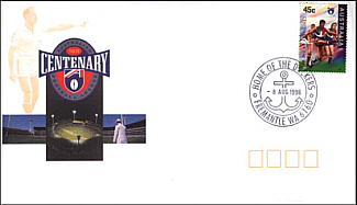 1996 AFL Centenary Cover with new Fremantle PM