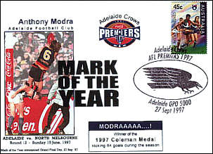 1997 Mark of the Year Cover with Crows Premiership PM
