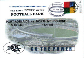 1997 Port Power Practice Match Football Park