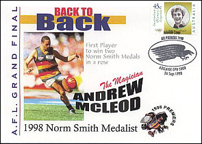 1998 Norm Smith Medalist Andrew McLeod Cover