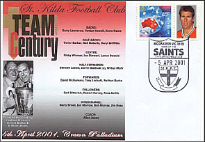 St Kilda team of th Centenury Cover